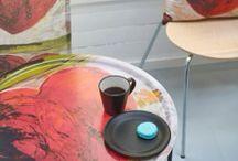 """Flodin Design / Kollektion """"Flower Power Heart"""". Form pressade brickbord av björkfanér."""
