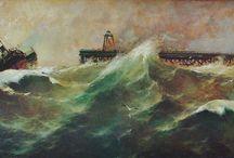 Tempestades en el mar. Naufragios. / Eliseo Meifrén Roig. Óleos de tempestades y tormentas. Naufragios.