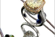 Canary Cubic Zirconia Rings, Bracelets and Necklaces in Solid Gold and Platinum @Chicjewelry.com / High quality cubic zirconia canary rings and wedding bands bracelets and more