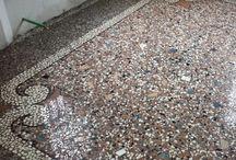 Restauro di pavimenti in Veneziana Antica in una abitazione privata  a Bologna