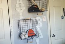Sports Nursery Inspiration / The perfect place to find inspiration for your sports nursery.  Includes lots of baseball crib bedding, football crib bedding, sports crib bedding, sports decor, and sports wall art.