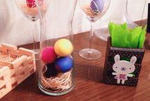 Decoração de Páscoa! / Desafio: fazer decoração de Páscoa com tudo que já tenho em casa.