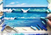 pastels & paintings