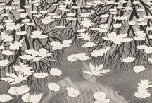 Escher / M.C. Escher -- hundreds of works, each compelling in their own way. / by Kathy Cowley
