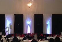 Gala, appreciation events, fundraiser and awards banquet decor