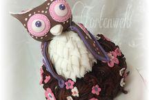 Eule Torte Tauftorte owl cake