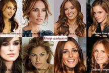 Deep Autumn Celebrities / Знаменитости цветотип Глубокая осень