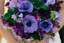 Purple Bouquets/centerpieces