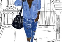 Black art / Art by black women (including myself) or featuring positive images of women of color.