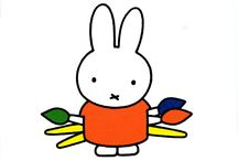 Illustrator/designer // Dick Bruna / Dick Bruna (born August 23, 1927 in Utrecht) is a Dutch author, artist, illustrator and graphic designer, best known for his children's books which he authored and illustrated, numbering over 200. His best known creation is Miffy (Nijntje in the original Dutch)  Bruna has also created stories for characters such as Lottie, Farmer John, and Hettie Hedgehog. Bruna illustrated and designed book covers, posters and promotional materials for his father's publishing company A.W. Bruna and Zoon.