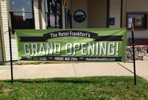 The Hotel Frankfort Grand Opening!!!!! / The Hotel Frankfort has its restaurant's grand opening May 29th!!! The restaurant will now be open from 8am to 9pm, seven days a week! So come in and grab some delicious food and enjoy our cozy atmosphere!