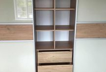 Custom fitted sliding door wardrobe, with bespoke shelves