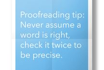 Proofreading tips / Handy proofreading tips from distance learning course provider, the College of Media and Publishing.