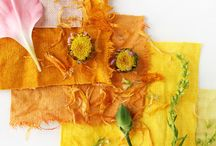 Natural Dying / Tips and techniques to use natural to dye textiles and fabrics.