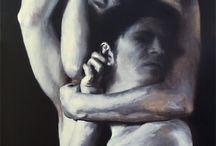 Painting - Cara Thayer & Louie Van Patten