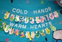 zimní výtvarka pro děti