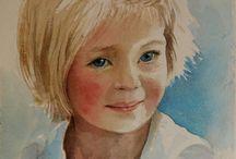 aquarellen portret