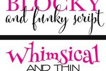 stencils printables / Fonts and Stencils
