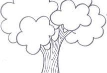 šablóna strom