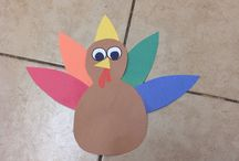 Thanks giving turkey / Construction paper turkey
