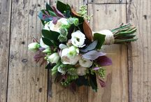 shop girl flower girl weddings / Our signature wedding style.  Round style posies, twine wrapped stems showing.  All posies are supplied in water and boxed for transport.