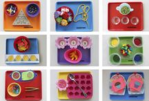 tot trays / by Heather @ Work from Home with Kids