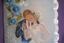 tarjetas matrimonio pergamino