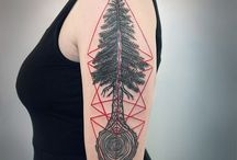 Redwood Tree Enso Tattoo