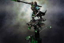 WH40k - Necrons / Warhammer 40k | Necrons | Collection of miniatures painted by modellers from all over the world.