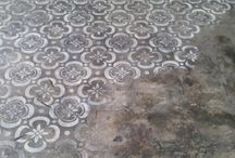 concrete planted floor
