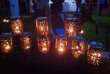 Beleuchtung und Kerzen
