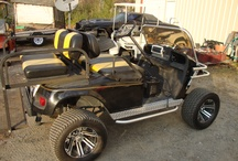 Chop, Cut, and Rebuild Custom Golf Cart / Customers golf cart transformation into one heck of a full custom, black metallic, Ez Go Golf Cart