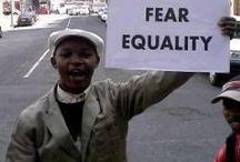 impact / posters, slogans, protest; revolution.  strangers, activism, change.