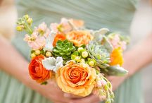 Flowers for grey dresses