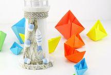 Hajók világító tornyok