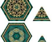 quilt ideas / designs using triangles, diamond shapes and strips