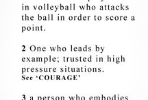 Hitter / Outsides and middle hitters in volleyball