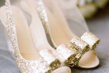 gold gritter wedding ideas