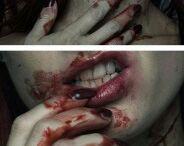 straszne makijaże