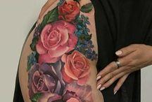 tattouage fleurs