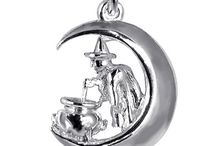 Fantasy & Horror Charms / Fairy, imp, witch, wizard, ghost and ghoul... charms celebrating the scary and the fantastical. Sterling silver. gold, enamel and crystal. Vintage, antique and modern. ★ silverstarcharms.com