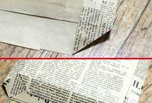 Borse con carta di giornale