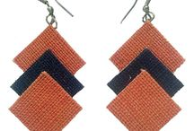 Jute Jewelry / Jewelry and ornaments made of Jute. Trendy, fashionable and stylish. Colorful and artistic. Hand made, cheap but appealing.