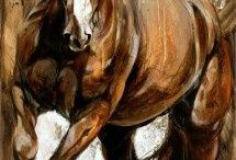 Horse in painting
