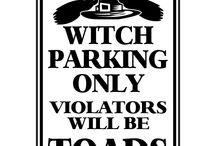 Witch Parking signs / Halloween is here and so are custom parking signs for the big night!