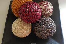 esferas en granos
