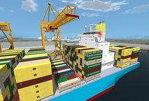 Vortex Port Crane Simulator Training Modules / Screenshots from Vortex port crane training modules, used to train operators all over the world.