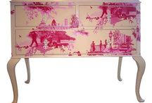 Wallpapered furniture ideas