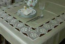 Manteles ,caminos de mesa, servilletas : Crochet