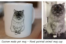 Custom made pet mug - Hand painted animal mug cup - Personalized mug - Painting dog & cat / I will draw your pet or favorite animal on mugs. This is handmade mug cup of only one in the world. If you are loved animal, it is best present for you and your friends.  https://www.etsy.com/shop/CreativeStoneCera